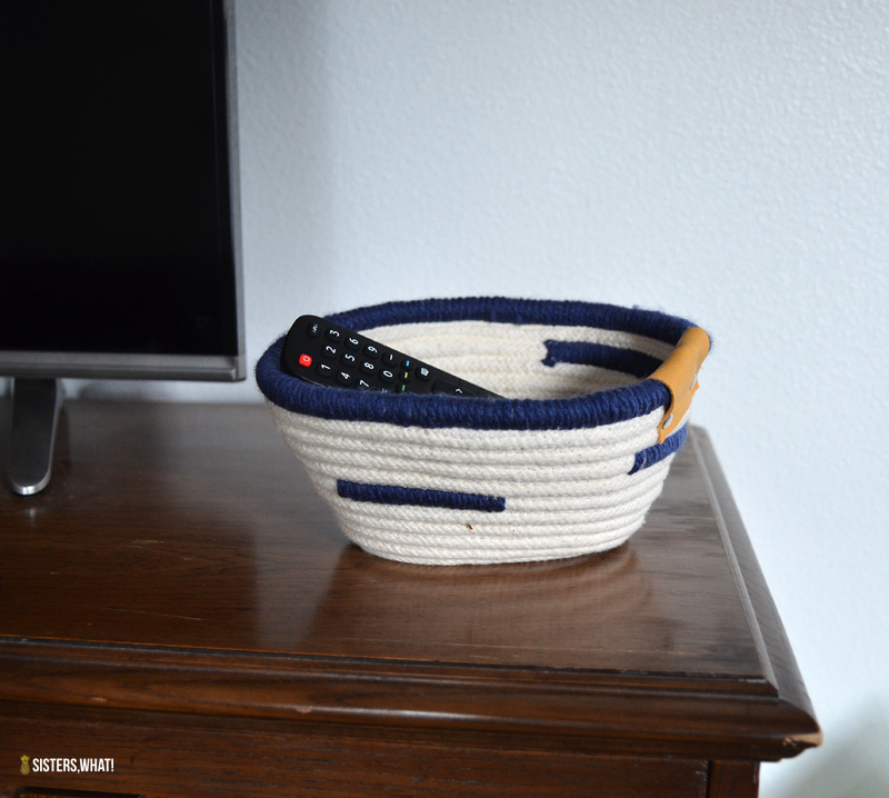 how to sew a rope basket easy tutorial
