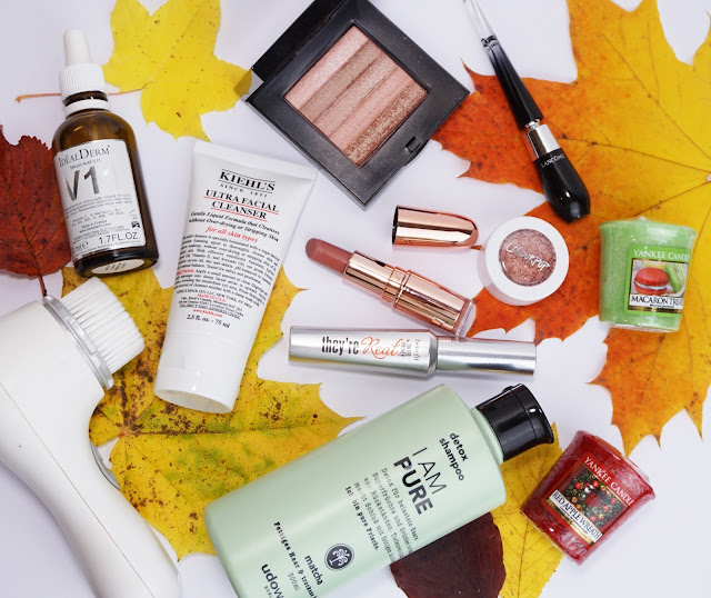 Beauty-Favoriten im Herbst 2016 udowalz Berlin, Clarisonic, Yankee Candle, Kiehl's, Makeup Revolution, benefit, Colourpop, idealderm, Bobbi Brown, Blätter, Kosmetik