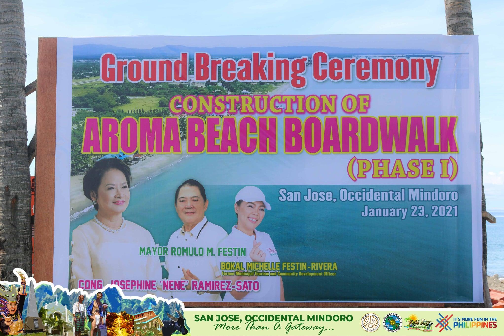 Aroma Beach and Boardwalk Billboard San Jose Occidental Mindoro