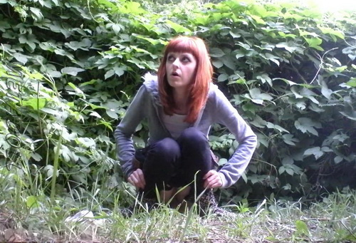 PissHunters 9236-9251 (Girls pee outdoors hidden camera. Hidden cam in public toilet)
