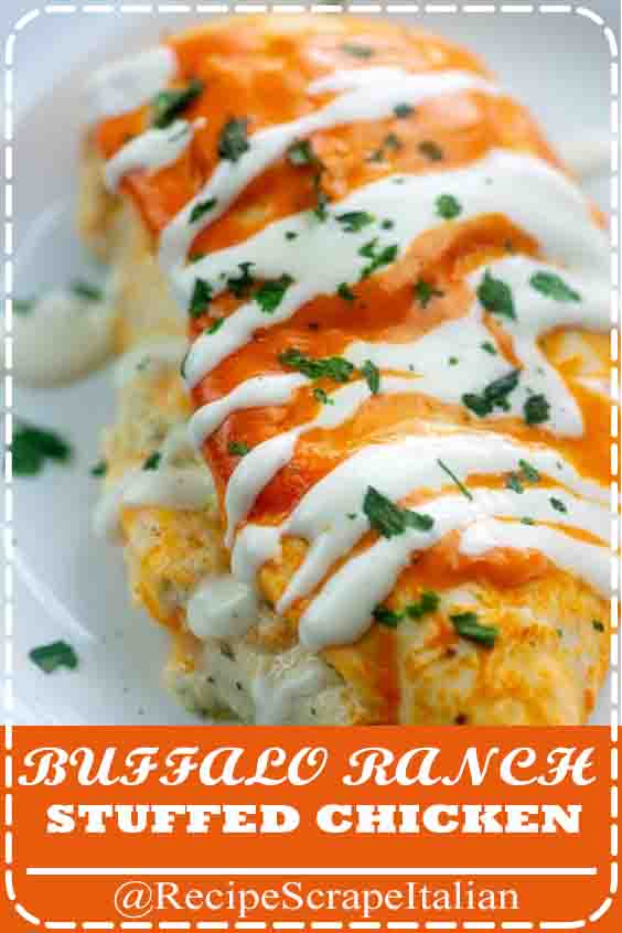 BUFFALO RANCH STUFFED CHICKEN #recipes #delicious #chicken