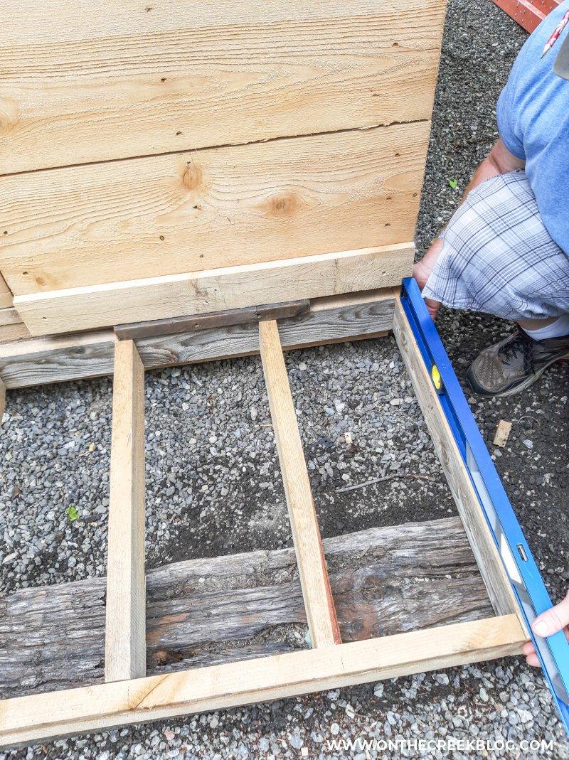 greenhouse porch build | On The Creek Blog // www.onthecreekblog.com