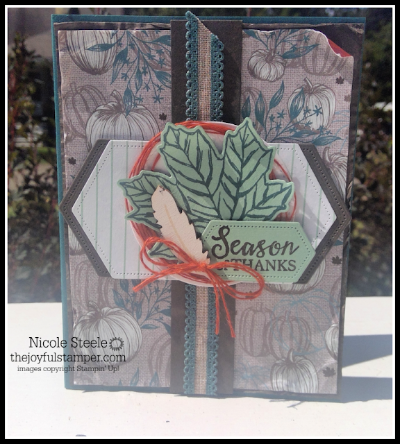 Season of Thanks card using Come To Gather product suite by Nicole Steele The Joyful Stamper