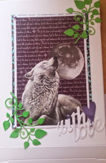 With Love wolf box using Pollyanna Pickering Moonlight images