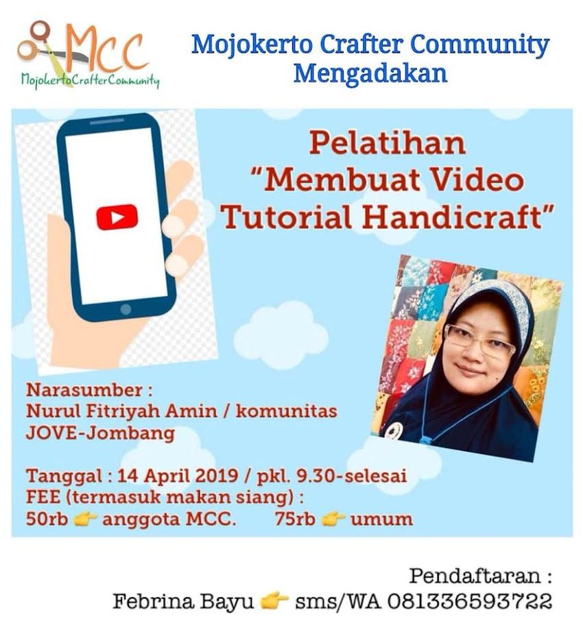 Workshop Membuat Video Tutorial Handicraft