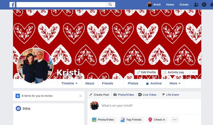 Valentine Facebook Timelines