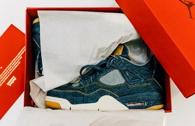 Air Jordan IV Denim Sneakers