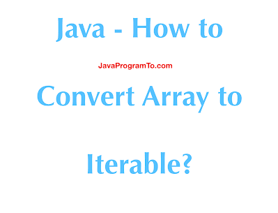 Java - How to Convert Array to Iterable?