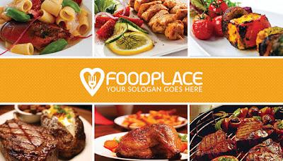 Plantilla para crear una tarjeta de presentación para el negocio de restaurantes.