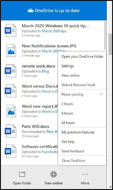 منع OneDrive من المزامنة في ويندوز Windows 10
