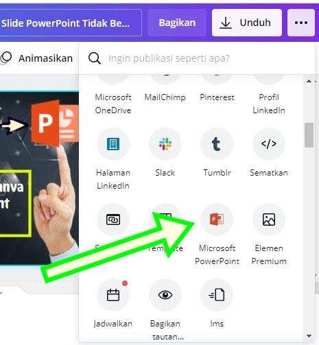 Save PPT Canva ke Microsoft PowerPoint
