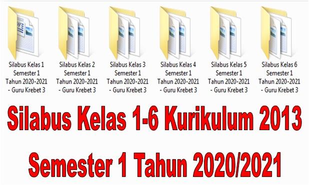 Silabus Kelas 1-6 Kurikulum 2013 Semester 1 Tahun 2020/2021 - Guru Krebet 3