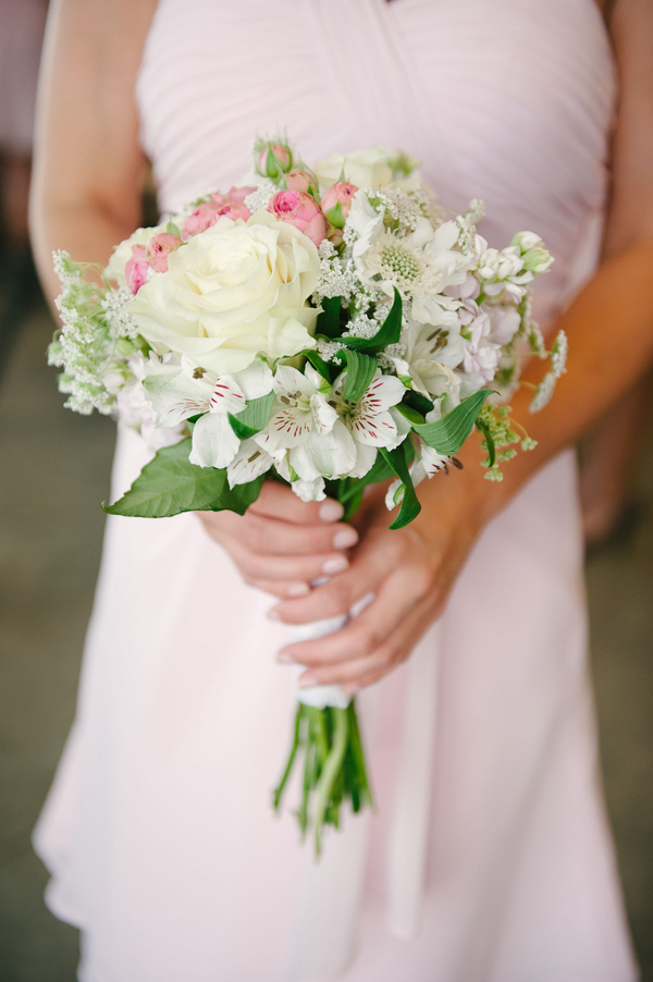 bridal+white+wedding+shabby+bride+chic+pink+gold+white+outdoor+summer+spring+wedding+floral+arrangements+tent+flowers+bouquet+lace+programs+menu+cake+table+bridesmaids+dresses+hair+peach+rose+reyna+wilton+photography+14 - Marshmallow Pink