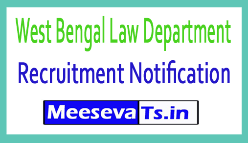 West Bengal Law Department Recruitment