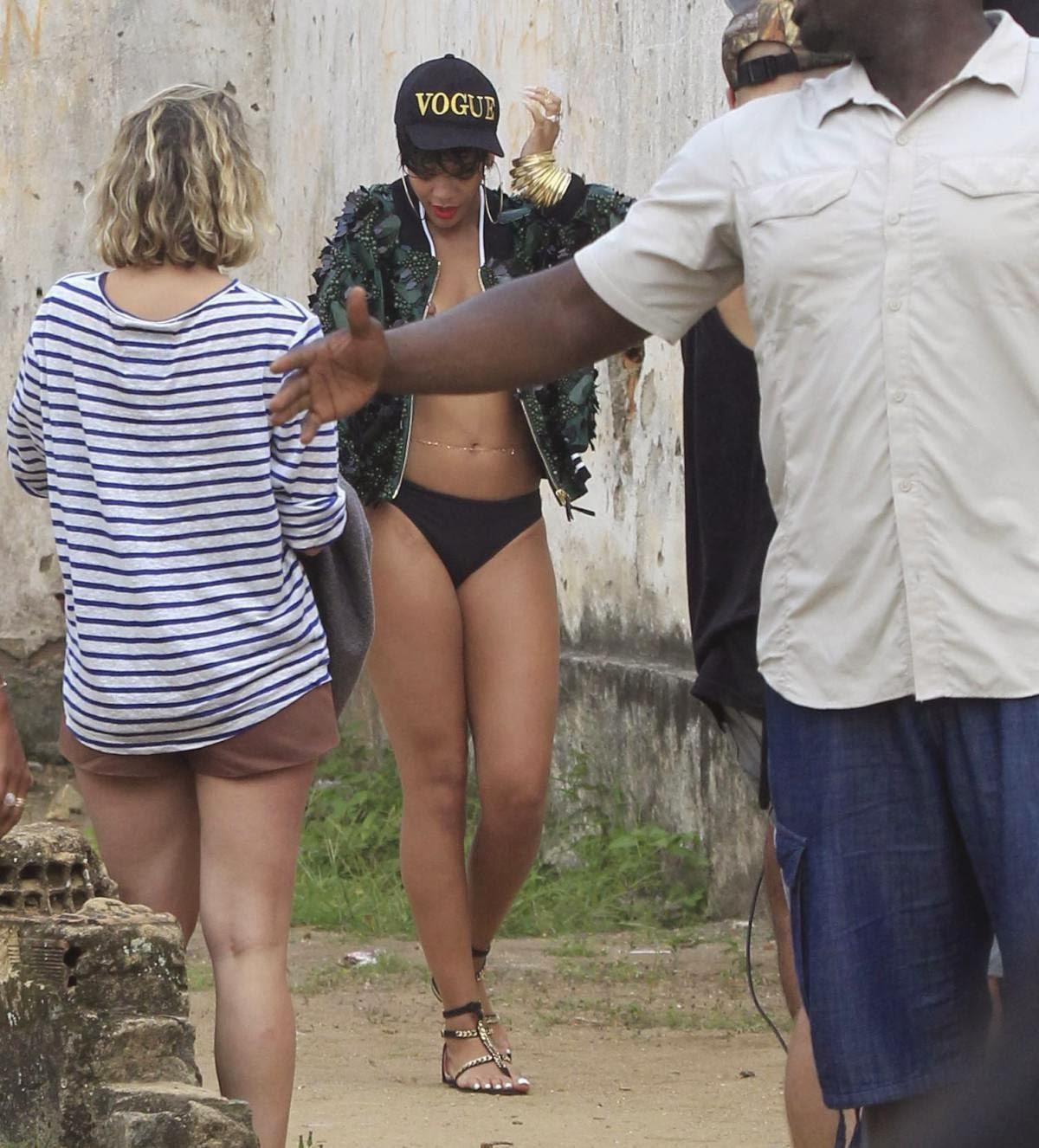 Rihanna Naked On Beach