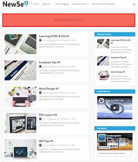 New Seo Free Responsive Blogger Template