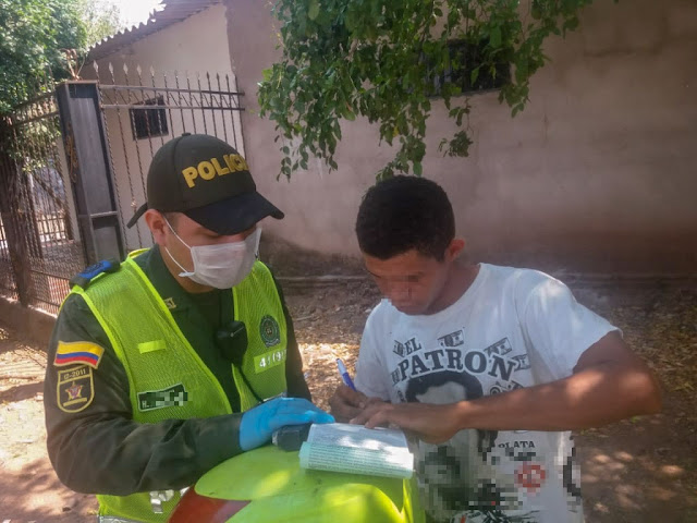 En el Cesar, Policía aplica cada cinco minutos un comparendo por incumplir restricciones