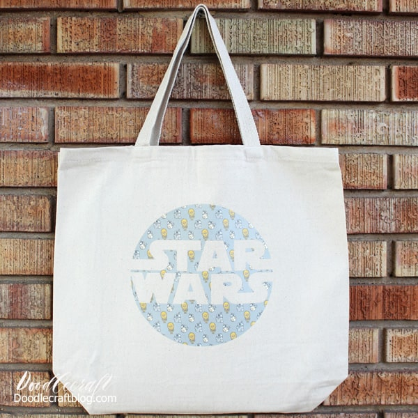 Star Wars Cricut Patterned Iron-on Tote Bag