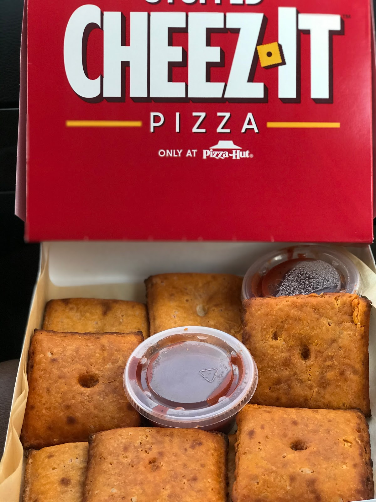 Image: Tangie Bell trying the new Pizza Hut Cheez-It. Weekend Bits And Favorites 26:The Recapping Post!