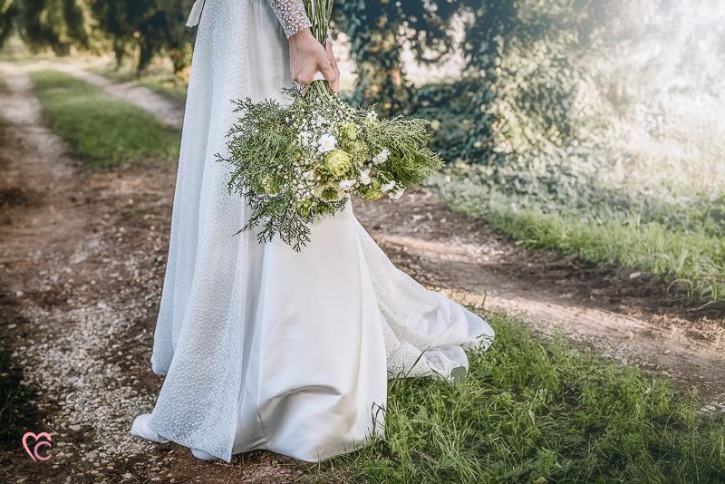Winter elopement a Chieri,in Italia,bouquet di passeggiandoingiardino