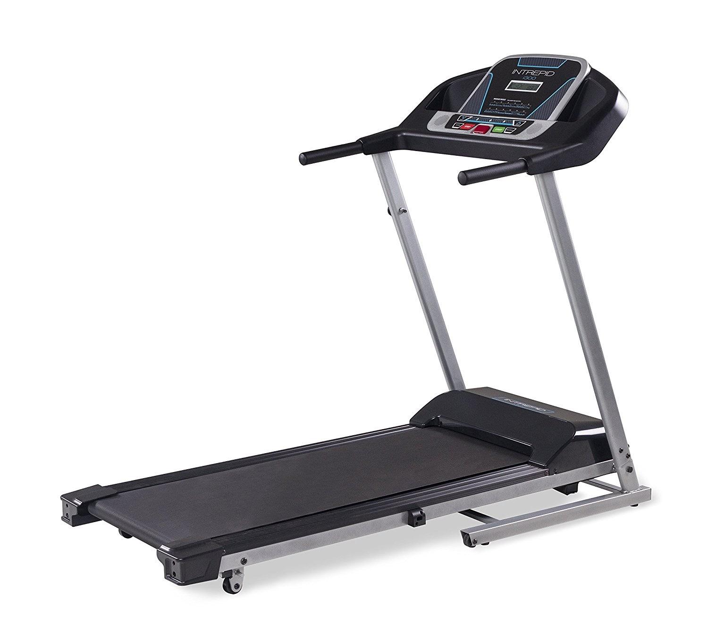 Health and fitness den intrepid i300 folding treadmill for Treadmill 2 5 hp motor