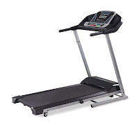 "Intrepid i300 Folding Treadmill, with 1.5 hp motor, speed range from 0.5 to 10 mph, 2 manual incline levels, cushioned running deck, 18"" by 47"" running belt"