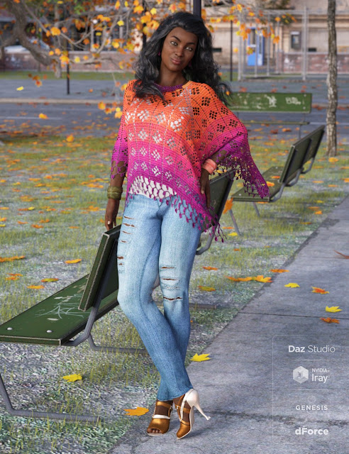 dForce Breezy Day Outfit Textures