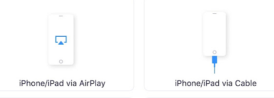 airplay or cable icons for Zoom
