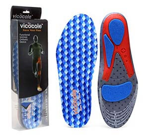 VOCOFA Flat Feet Insole Athlete Shoe Insole Arch Support
