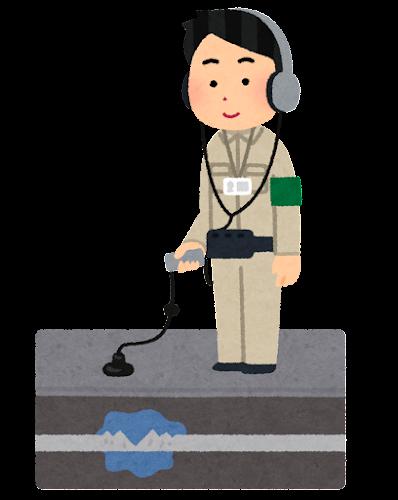 漏水調査のイラスト(探知機)