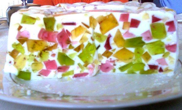 Желейный торт Битое стекло - красивый десерт без выпечки