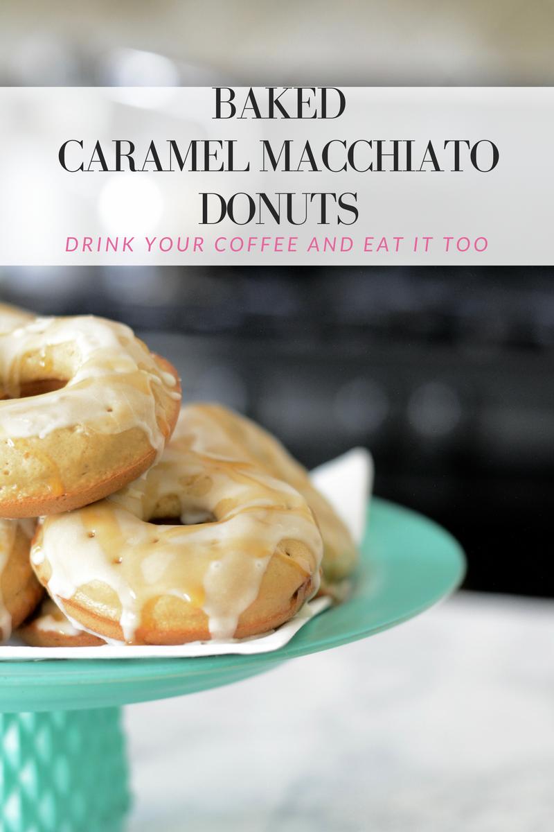 baked caramel macchiato donuts