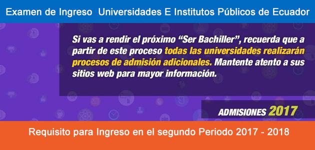 Examen para Ingreso Universidades Ecuador segundo Periodo