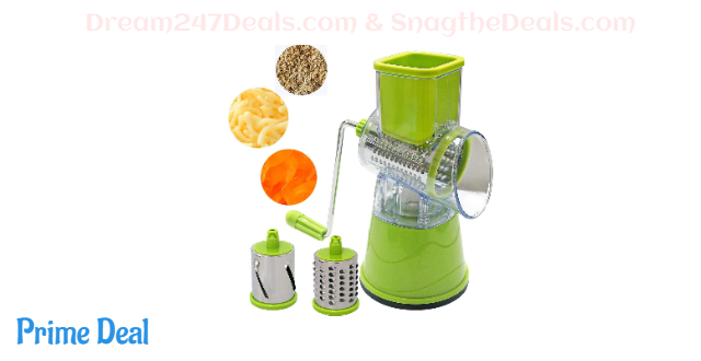 Rotary Cheese Grater and Slicer with Metal Crank 40%OFF