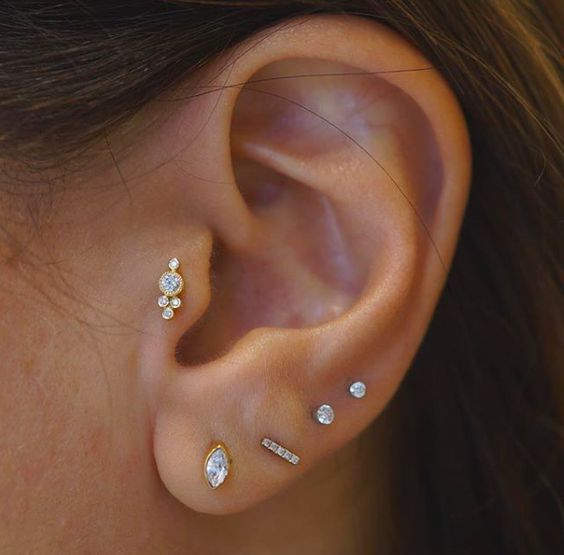 15 Awesome Ear Piercings Idea For Women