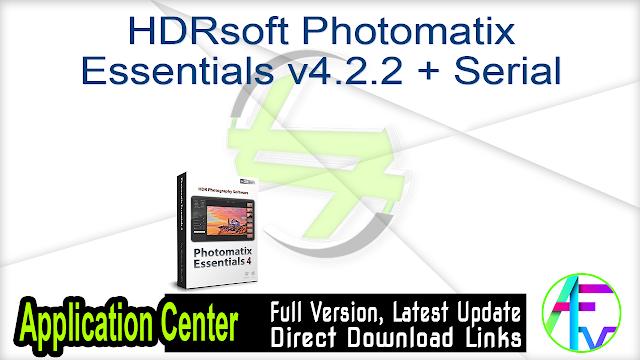 HDRsoft Photomatix Essentials v4.2.2 + Serial