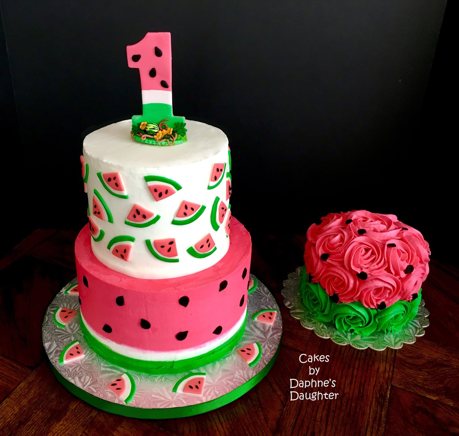 Amazing The Bake More One In A Melon Watermelon Birthday Cake Tutorial Funny Birthday Cards Online Inifofree Goldxyz