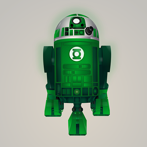 07-Green-Lantern-Steve-Berrington-Batman-v-Superman-and-their-Superhero-R2-D2-Friends-www-designstack-co