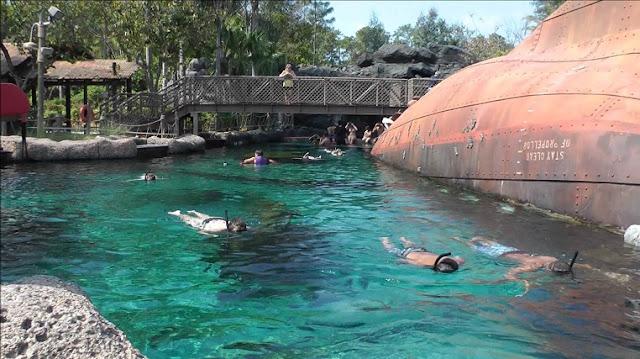 Atrações diferentes no Typhoon Lagoon em Orlando