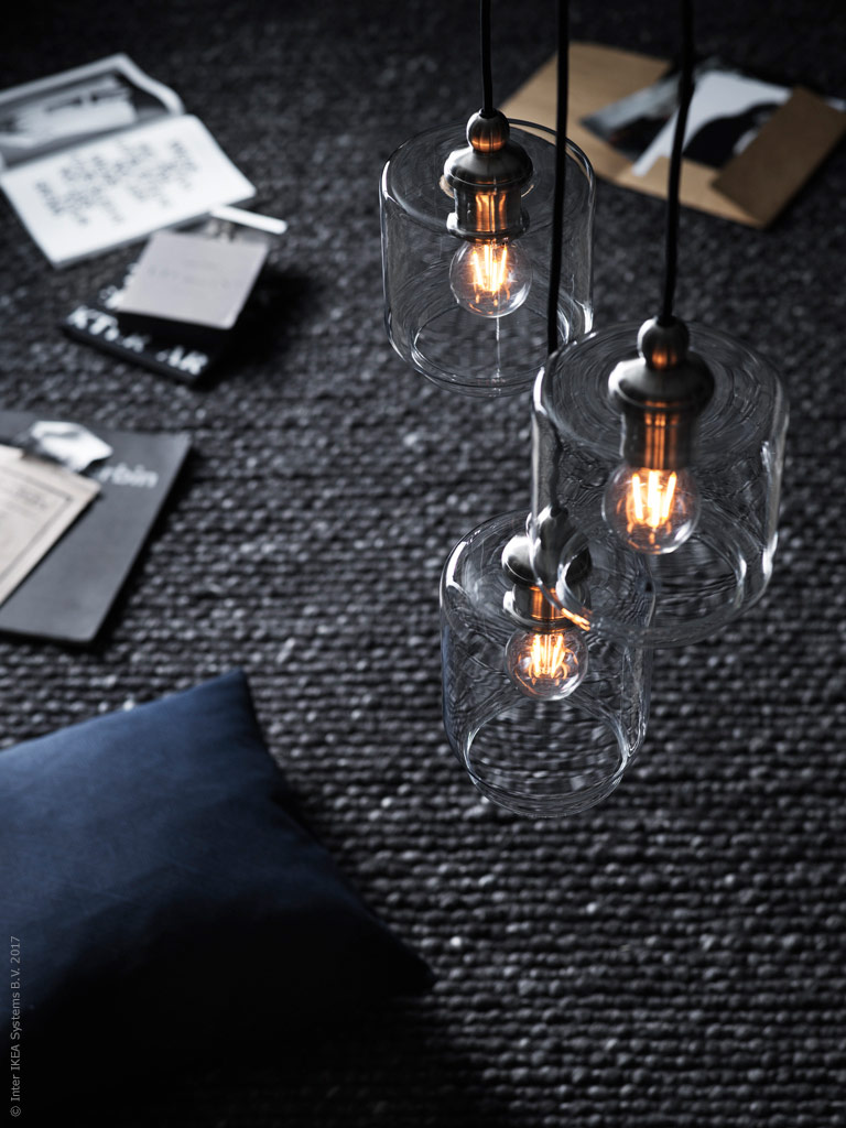 Weu0027ve been looking for new lighting for our living room for a while now and so when we came across the handmade KLOVAN displays in clear or smoky glass ... & Atmospheric Lighting from IKEA | Poppytalk