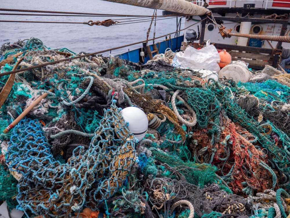 Lixo no oceano