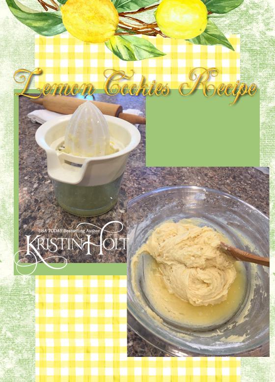 Kristin Holt | Lemon Cookies Recipe (1895), step 12- Add lemon juice alternately with flour.