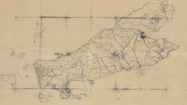 Mapa Roti, Indonesia, de 1907/Reprodução