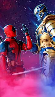 Deadpool Vs Thanos Mobile HD Wallpaper