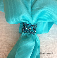 Beaded Scarf Ring