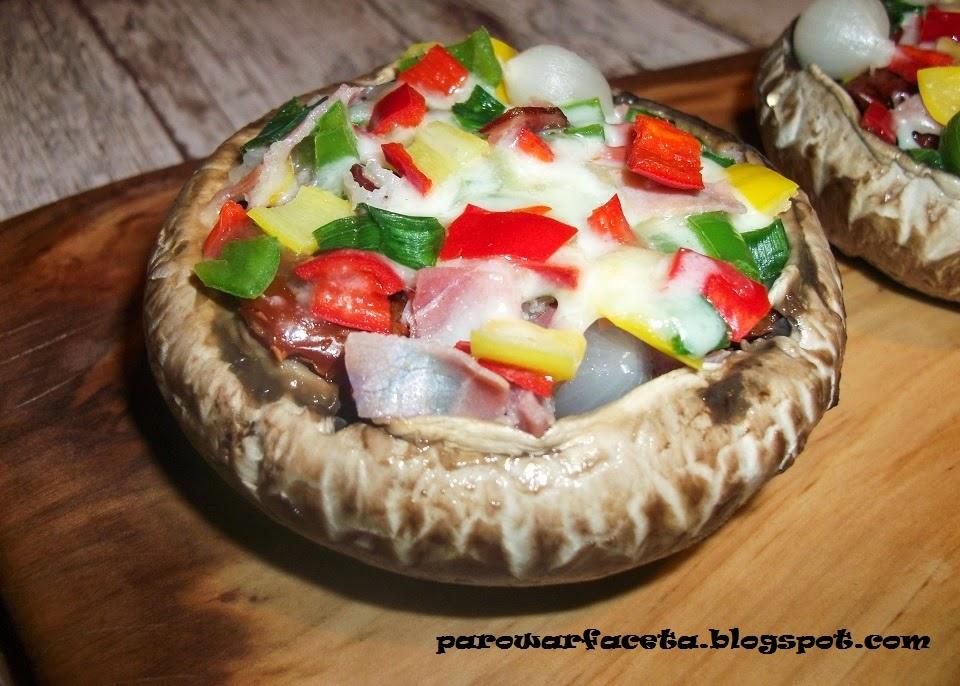 pieczarka portobello pizza warzywna w parowarze
