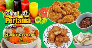 takjil ramadhan pertama dan menu makan sahur