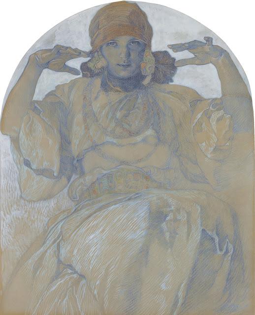 Альфонс Муха - Ярослава Муха в образе Славии. 1926