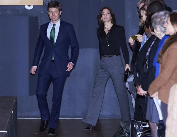 Crown Prince Frederik and Crown Princess Mary met with UN secretary Kofi Annan at Den Sorte Diamant