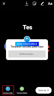 Fitur ask me questions Instagram